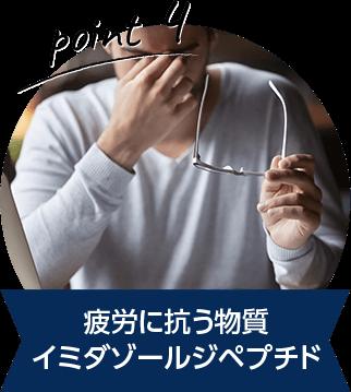 疲労に抗う物質 イミダゾールジペプチド